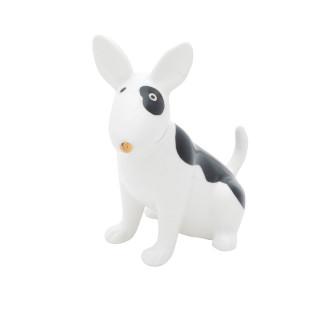 Estatueta Cachorro Decorativo Em Porcelana Bull Terrier