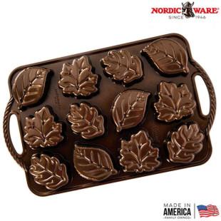 Forma Para Bolo Nordic Ware Leaflettes Cake Pan Original USA