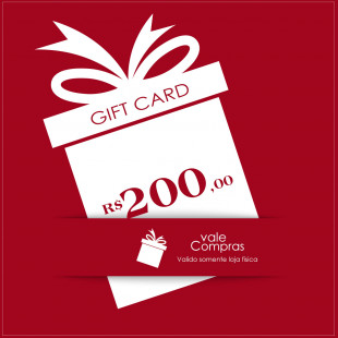 Gift Card Casa Allegro R$200,00