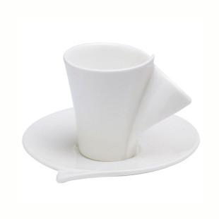 Jogo Com 6 Xícaras Para Café Porcelana Lyon