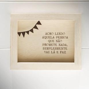 Bloco Frases Escultura De Mesa Acho Lindo Les Maries
