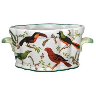 Centro De Mesa De Porcelana Pássaros Lucatti