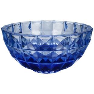 Centro De Mesa  Cristal Bohemia  Azul  Diamond