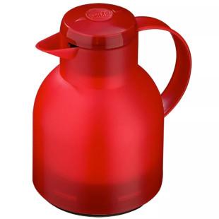 Garrafa Térmica De 1 Litro Vermelha Quick Press Samba Emsa