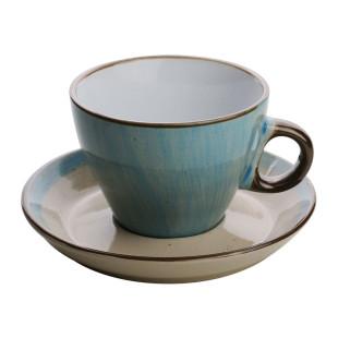 Jogo 4 Xícaras de Chá Organic Azul 180 ml Bon Gourmet