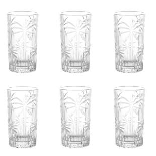 Jogo 6 Copos De Cristal Palm Tree Wolff