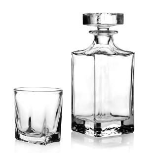Jogo 6 Copos e Garrafa De Whisky Square Studio Crystal