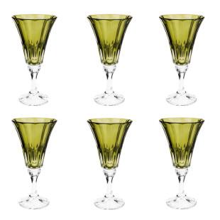 Jogo 6 Taças De Cristal Wellington Kale Bohemia 280Ml