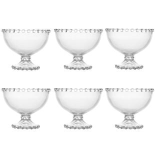 Jogo 6 Taças De Sobremesa Cristal Pearl Wolff
