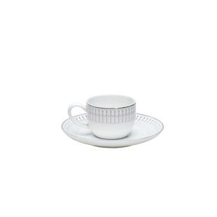 Jogo 6 Xícaras de Café Porcelana Bone China Kiev Wolff