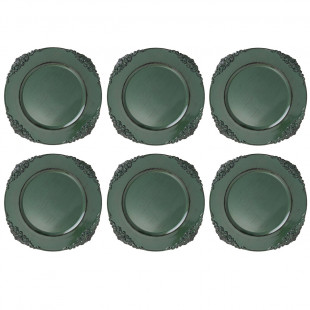 Jogo De 6 Sousplat Galles Barroco Green Antique
