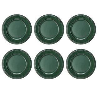 Jogo De 6 Sousplat Galles Dots Green Antique