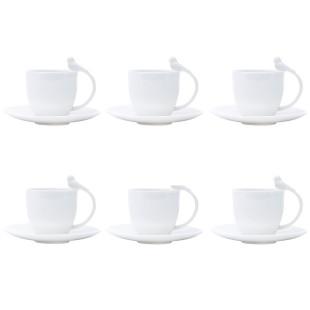 Jogo 6 Xícaras De Café Birds Porcelana Wolff