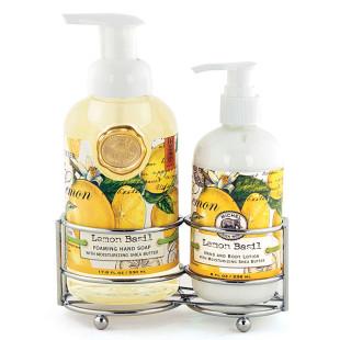 Kit Sabonete Líquido E Hidratante Lemon Basil Michel Design Works