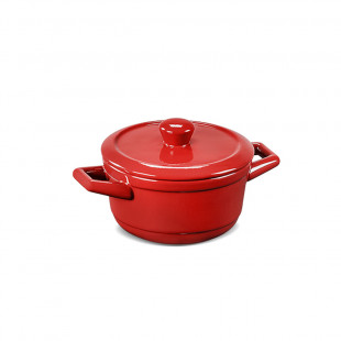Mini Caçarola De Cerâmica Ceraflame Duo Vermelha