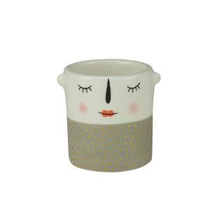 Mini Cachepot Cerâmica Puppet Shy Girl