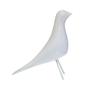 Pássaro Decorativo Fendi De Resina Limoeiro
