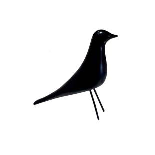 Pássaro Decorativo Preto De Resina Limoeiro P