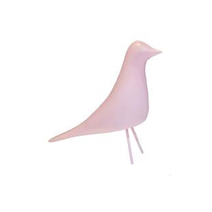 Pássaro Decorativo Rosa De Resina Limoeiro P