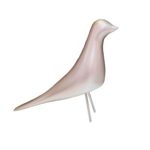 Pássaro Decorativo Champagne De Resina Limoeiro