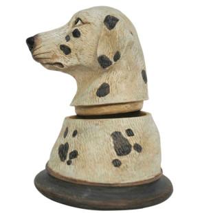Pote Busto Cachorro Dálmata De Resina