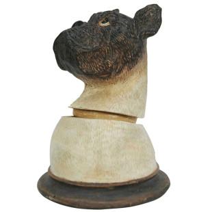 Pote Busto Cachorro Bulldog De Resina