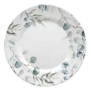 Prato Raso Cerâmica Aquarelle Eucalipto