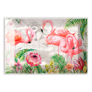 Saboneteira De Vidro Flamingo Michel Design Works