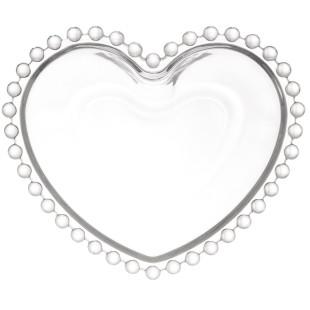 Saladeira De Cristal Coração Pearl Wolff