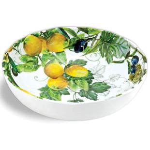 Saladeira De Melamina Lemon Basil Michel Design Works M