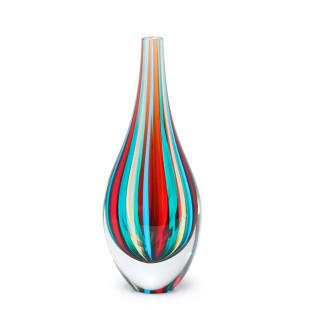 Vaso De Cristal Gota Color Murano Cadoro P